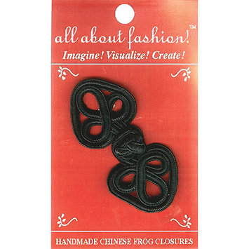 Vision Trims 4656 Handmade Chinese Frog Closure 114 in. x 234 in. 1PkgWhite Flower Heart