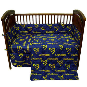 College Covers WVACS West Virginia 5 piece Baby Crib Set
