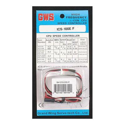 ICS100E/F Speed Control 5A 3.6-9.6V Futaba GWSM2059 GRAND WING SYSTEM U.S.A.