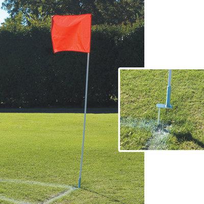 Alumagoal MSSOCFLGY Flexible Soccer Corner Flags