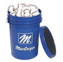 MacGregor Bucket of 5 Dozen 79P Baseballs - White