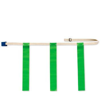 Bsn Triple Threat Flag Football Belts -Green (EA) - MED