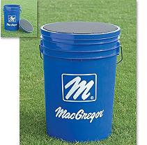 MacGregor Blue Ball Bucket with Padded Lid