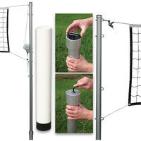 SSG / BSN Outdoor Volleyball Set - Steel Top Cable Net with Cap