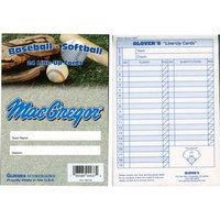 Wholesale Sport Supply Baseball / Softball Line-Up Card Booklet