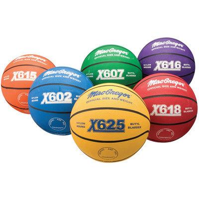 MacGregor Outdoor Rubber 27.75 Junior Size Multicolor Basketballs