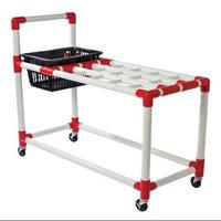Bsn Racquet Cart with Basket