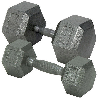 Champion Barbell 75 lbs. Solid Hex Dumbell with Ergo Grip