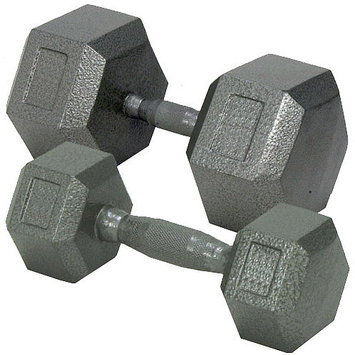 Champion Barbell 80 lbs. Solid Hex Dumbell with Ergo Grip