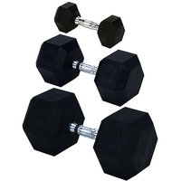 Champion Barbell Rubber Encased Hex Dumbbells, sold individually