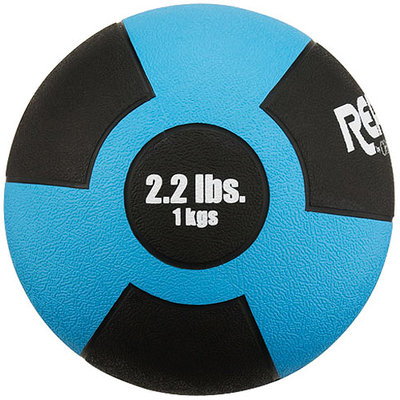 Champion Reactor Rubber Medicine Ball 1kg Lt Blue