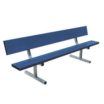 Sport Supply Group 21 ft. Permanent Bench with Back - Blue
