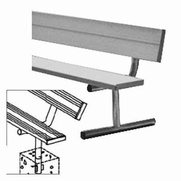 Sport Supply Group BEPB08 7.5' Permanent Bench with Back