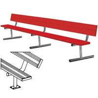 Sport Supply Group 21' Surface Mount Powder Coated Bench with Back
