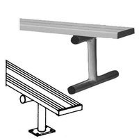 Sport Supply Group 8' Heavy Duty Surface Mount Aluminum Bench without Back