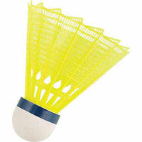 MacGregor Tournament Badminton Shuttlecocks (Yellow) - Tube of 6