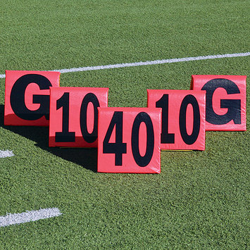 Pro Down 1249354 Improved DayNight Sideline Markers 5pc Football Field Equipment