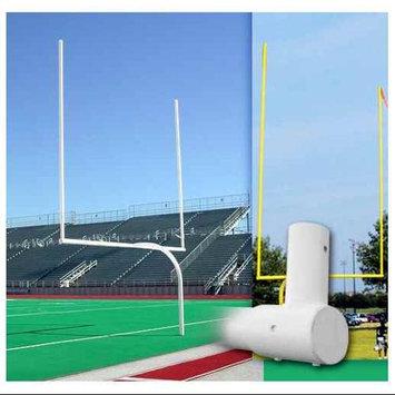Alumagoal Collegiate Gooseneck Goalpost White (PR)