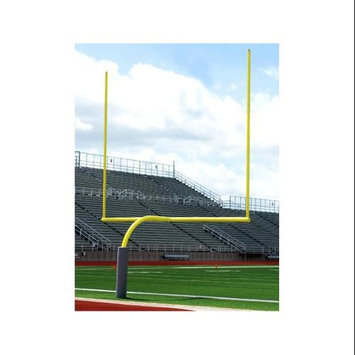 Alumagoal Galvanized Gooseneck Goalpost in Yellow Finish