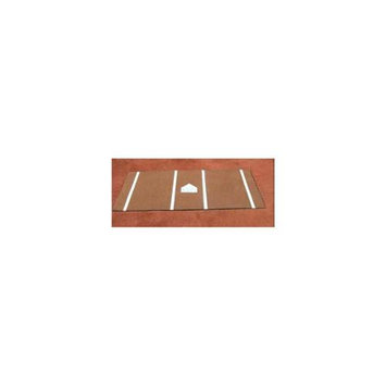 Athletic Connection DiamondTurf Home Plate Mat w Clay-Colored Turf