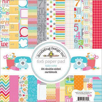 Doodlebug Take Note Cardstock Pack, 6
