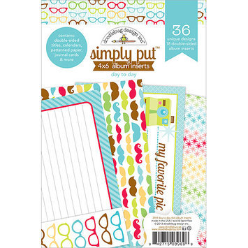 Doodlebug DTD3969 Day To Day Simply Put Album Inserts 4X6