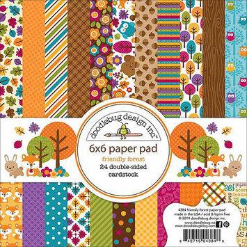Doodlebug Paper Pad 6X6 24/Pkg-Happy Camper