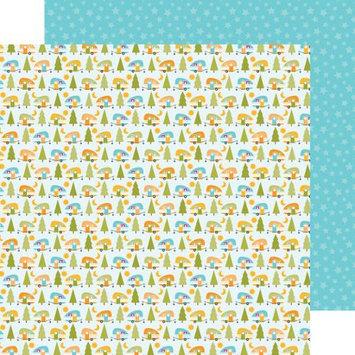 Doodlebug Happy Camper Double-Sided Cardstock 12 X12 -Happy Camper