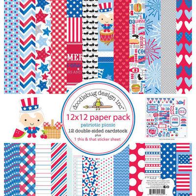 Doodlebug Paper Pack 12inX12in Sunkissed