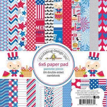 Doodlebug Paper Pad 6inX6in 24/Pkg Sunkissed