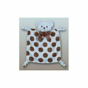 Bearington Baby 9 Plush WEE DOTTIE Teddy Bear Security Blankie, Blue