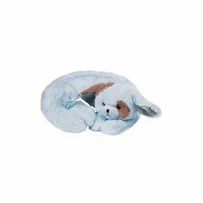 Bearington Baby Comfort-On-The-Go WAGGLES The Blue Puppy TRAVEL PILLOW
