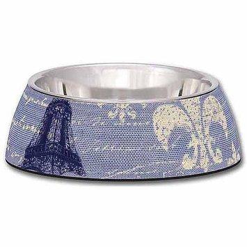 Loving Pets Milano Bowl - Blue Linen - Small