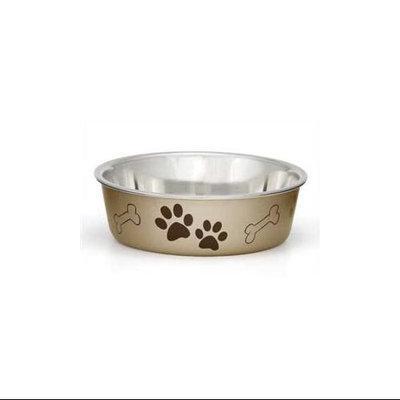 Loving Pets Metallic Bella Pet Bowl Champagne Large