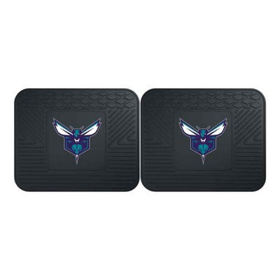 Fan Mats FANMATS 12365 NBA - Charlotte Bobcats Backseat Utility Mats 2 Pack