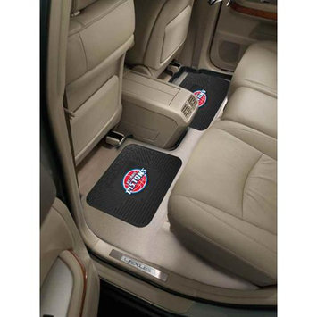 Fan Mats FANMATS 12370 NBA - Detroit Pistons Backseat Utility Mats 2 Pack