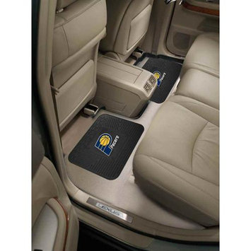 Fan Mats FANMATS 12373 NBA - Indiana Pacers Backseat Utility Mats 2 Pack