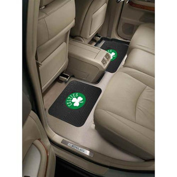 Fan Mats FANMATS 12433 NBA - Boston Celtics Backseat Utility Mats 2 Pack