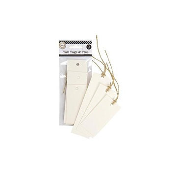 Canvas Corp TTAG-1959 Assorted Tall Tags & Ties-Ivory 9-Pkg