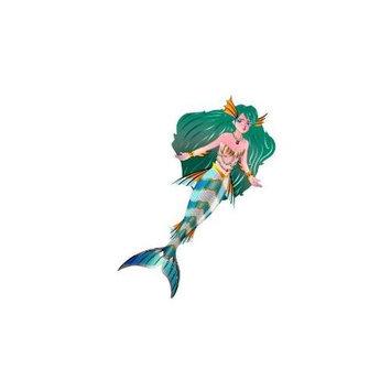Brain Storm Kites 71104 WNS FantasyFliers 62x33.5 Nylon 3D Mermaid