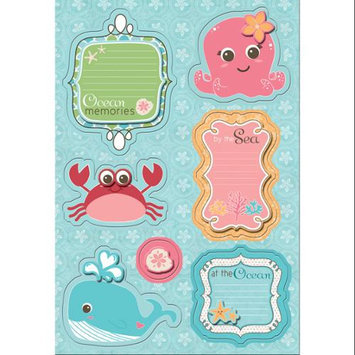 Imaginisce Splash Dance Sticker Stackers 5 X7 Sheet-Coral & Crew