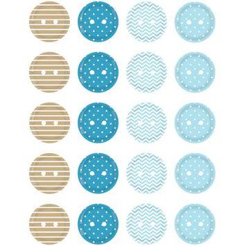 Imaginisce 400531 My Baby Boy Buttons 20-Pkg-Blue