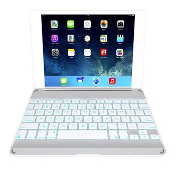 Zagg ZAGGkeys Backlit Keyboard Cover for iPad Air, Silver