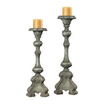 Sterling Lighting Sterling Industries 93-9145 Alston Grey Florentine Carved Candle