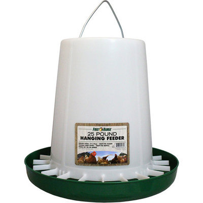 Harris Farms LLC Pet Hanging Poultry Feeder, Plastic, 25 Lbs