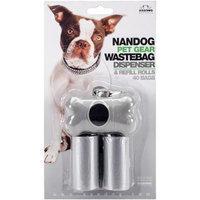 Nvmk Sales Nandog Bone Shaped Waste Bag Holder W/40 Bags