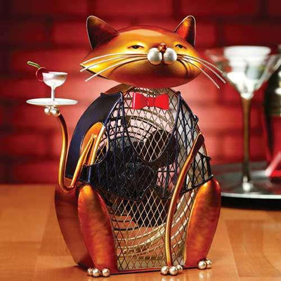 Global Product Resources, Inc Cat Figurine Fan - Cheers! - by Deco Breeze - DBF0173