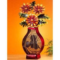 Deco Breeze DBF0364 - Figurine Fan - Flower Vase