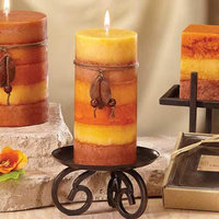 Deco Breeze NAT1366 Candle Holder Scrolls 5 in.
