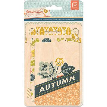 Basic Grey PRS4335 Persimmon Wood Veneer Die-Cuts-Cards